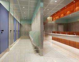 public bathroom 080 3d model