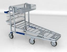 Shopping trolley Wanzl t50 3D Model