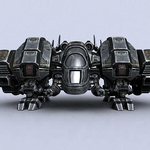 3DRT - Sci-Fi Dropship 43D model