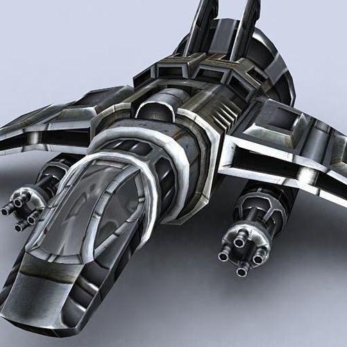 3DRT - Sci-Fi Gunship 43D model