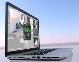 HP Laptop High Poly 3D Model