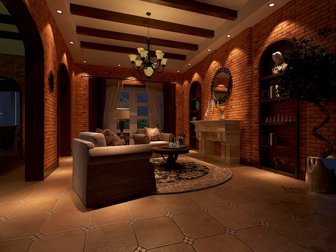 living room 102 3d model max 1
