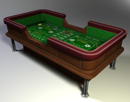 Craps Table Low Poly 3D asset