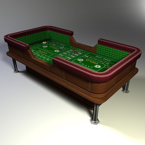 craps table low poly 3d model low-poly obj fbx lwo lw lws ma mb blend dae 1