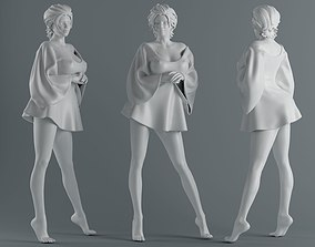 3D print model Women wear skirts 006