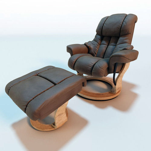 Fortuna Leather Relax Armchair3D model