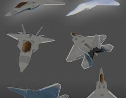F22 Raptor lowpoly 3D Model