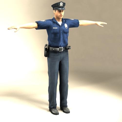 Police Officer 3D Model3D model