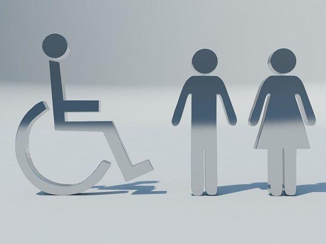 toilet signs 3d model obj mtl 3ds fbx c4d 1