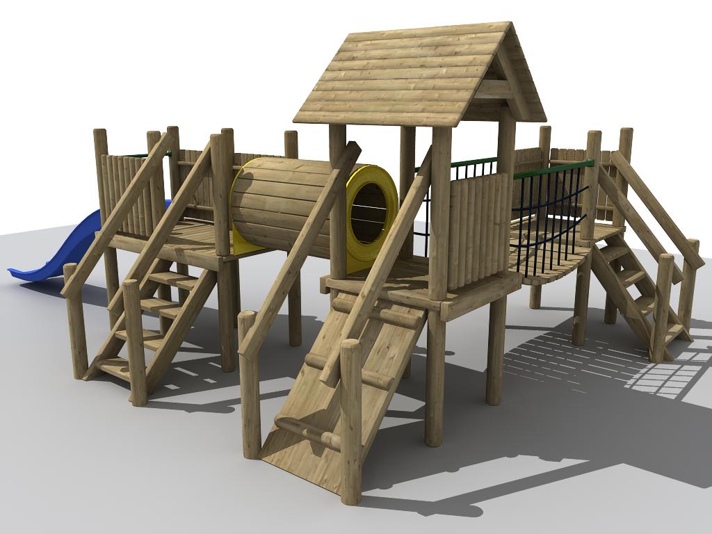 Adventure Playground 3d Model Ma Mb