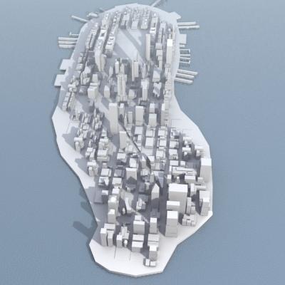 New York City Manhattan 3d Model 3d Model Game Ready Max