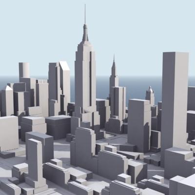 New York City Manhattan 3D Model 3D Model Game ready .max ...