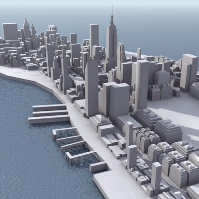 New york city manhattan 3d model 3d model game ready max for New york models