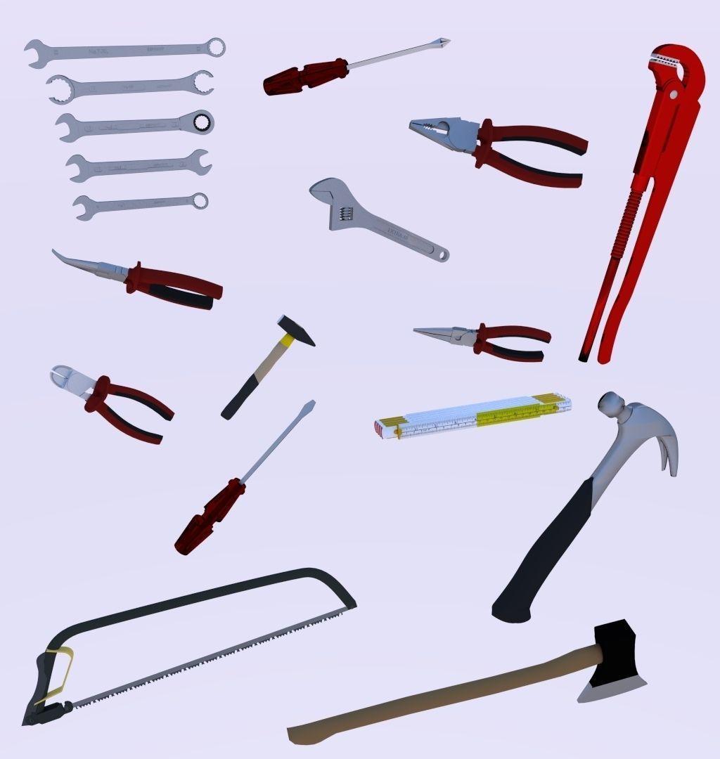 Tools Collection 3d Model Obj 3ds Fbx Blend Dae Mtl