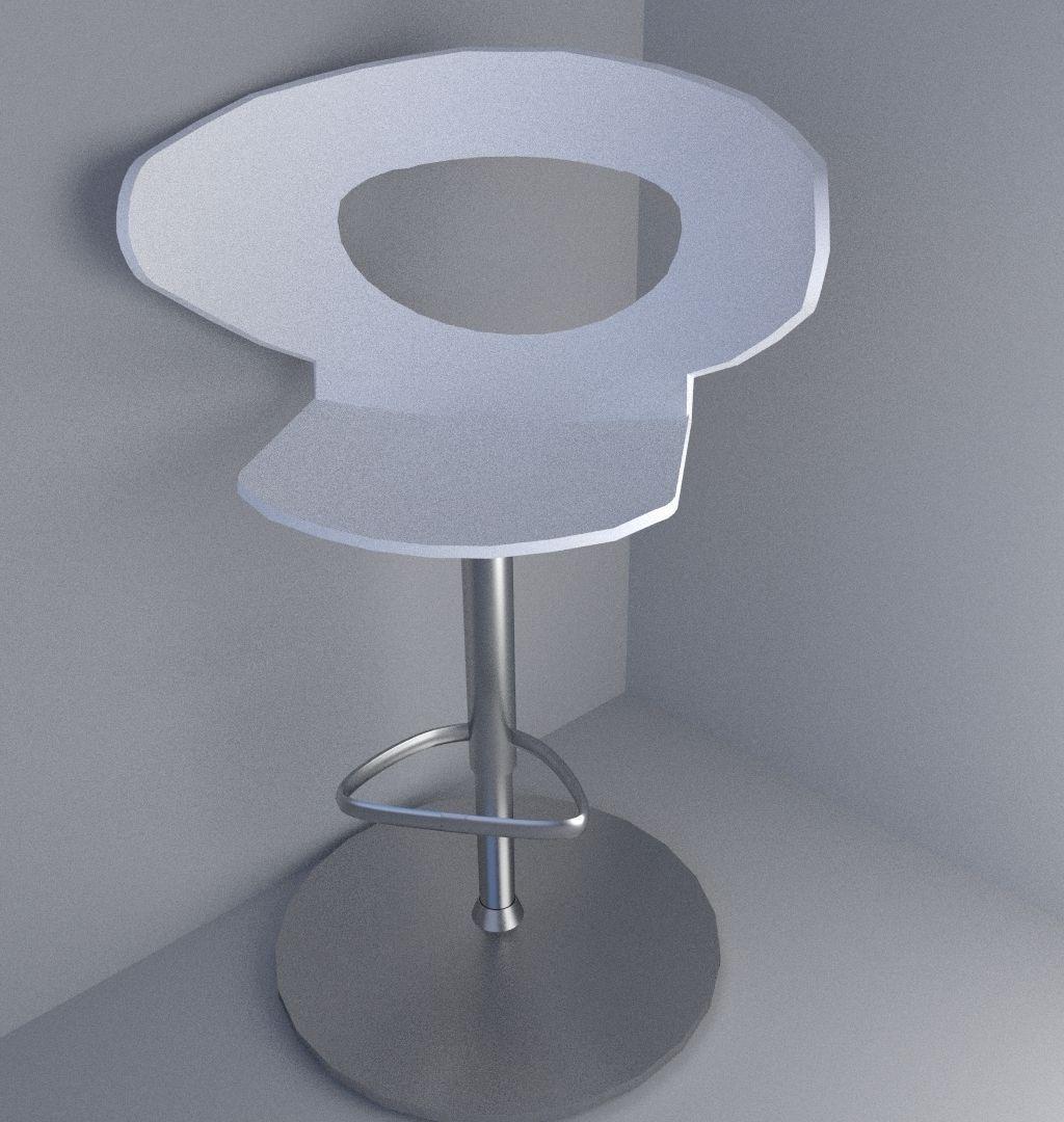 Bar stool 3d model obj 3ds fbx blend dae mtl for Barhocker 3ds