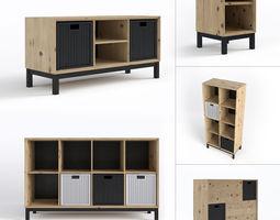 Scandinavian furniture set 3D model