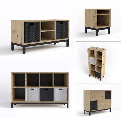 Scandinavian furniture set3D model