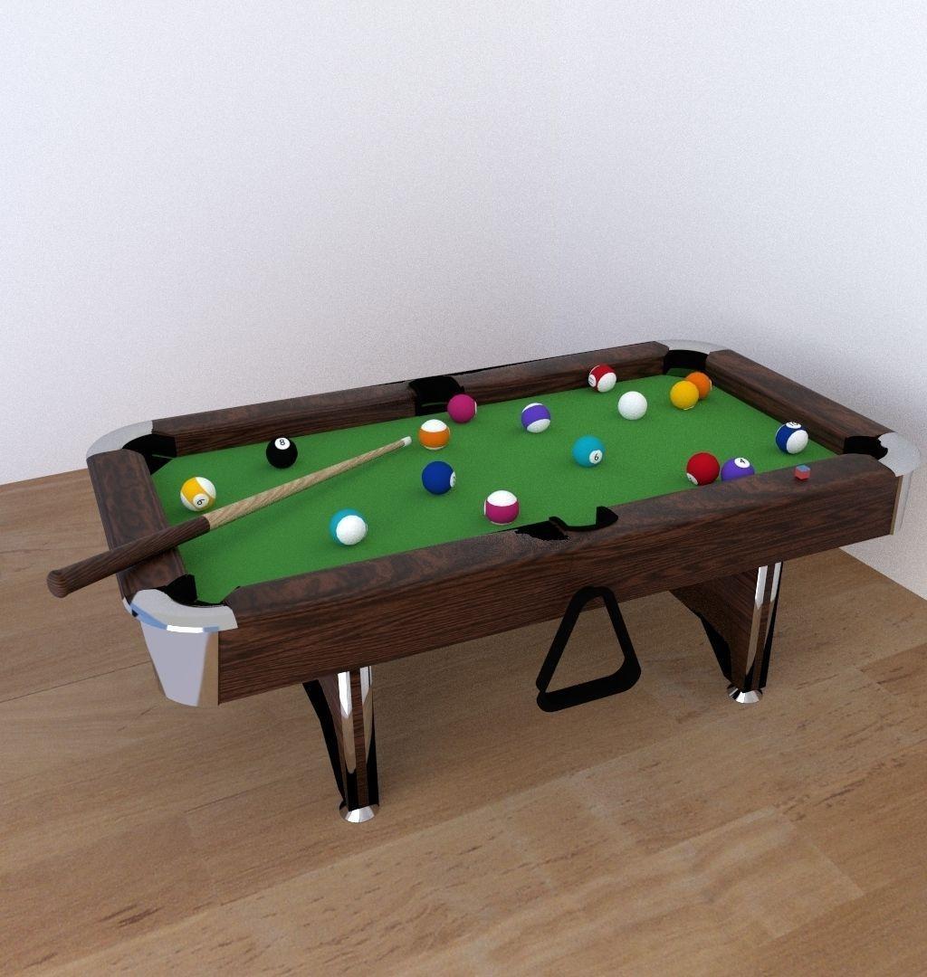 Billiards 3D Model .obj .3ds .fbx .blend .dae .mtl