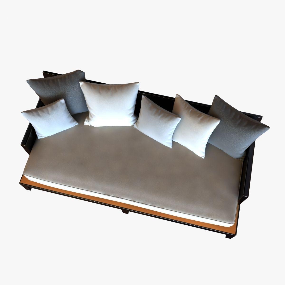 christian liaigre sofa for holly hunt opium 3D Model x
