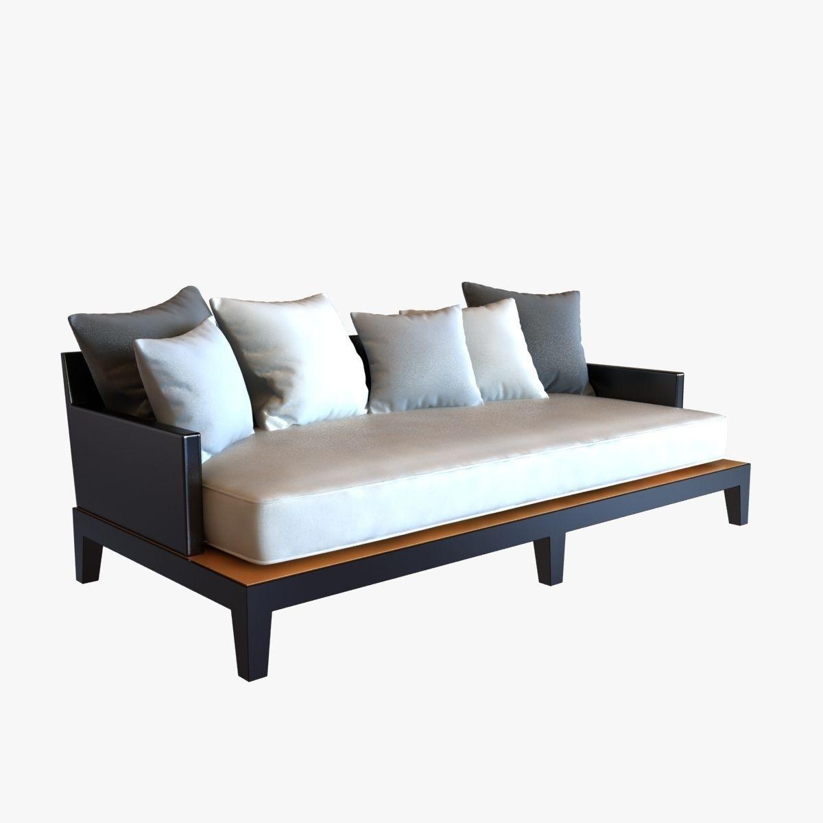 Christian liaigre sofa for holly hunt opium 3d model max for Divan furniture models
