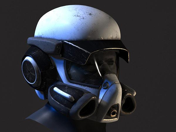 helmet - scifi 3d model max obj mtl fbx 1