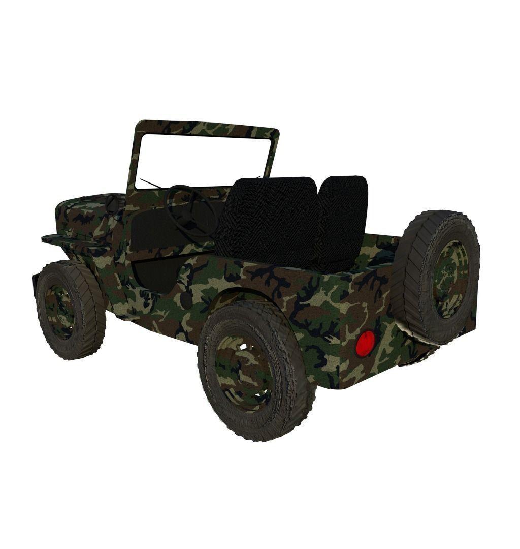 willys jeep 3d model obj 3ds fbx blend dae mtl. Black Bedroom Furniture Sets. Home Design Ideas