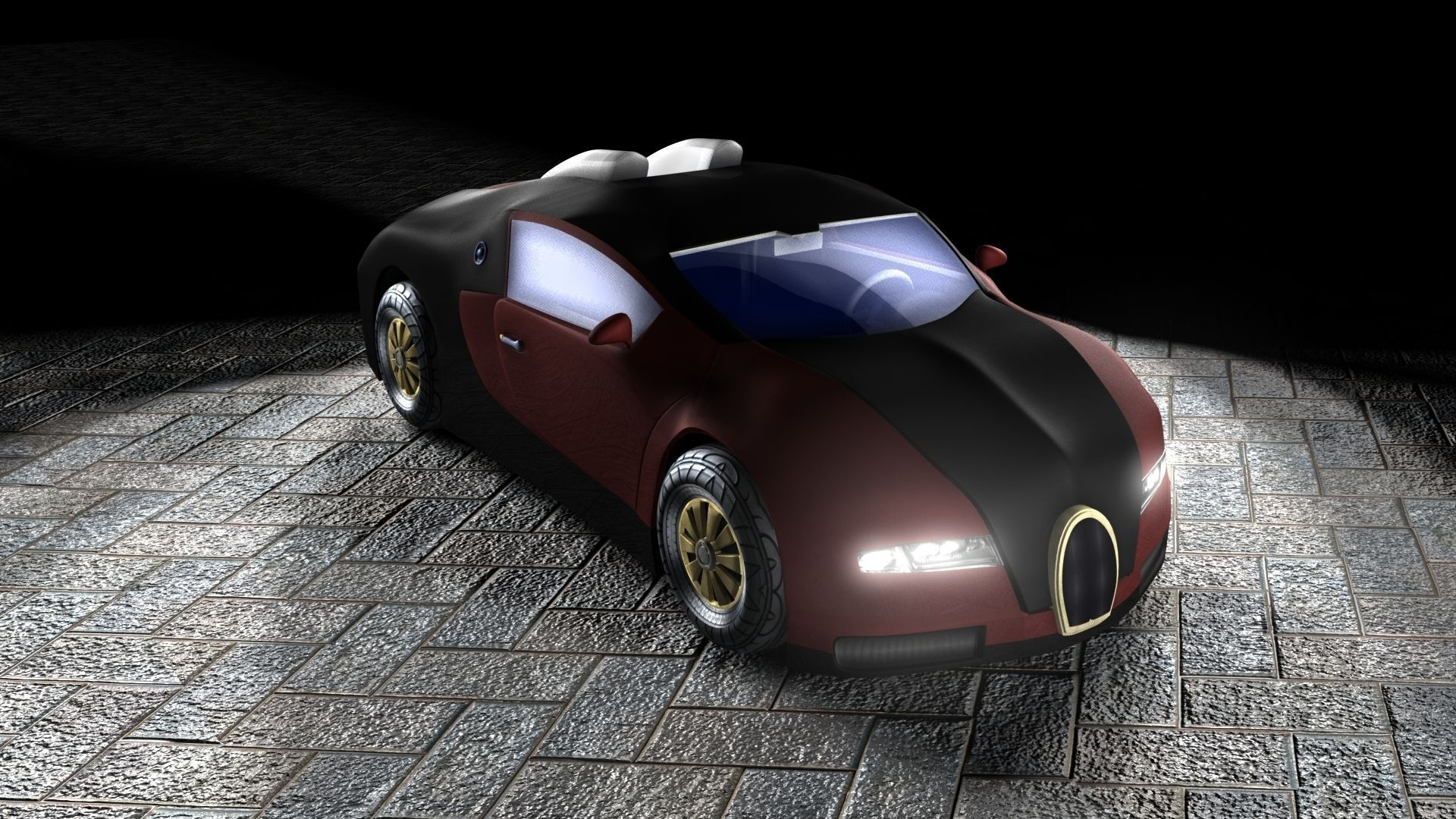 bugatti veyron 3d model with interior 3d model game ready ma mb. Black Bedroom Furniture Sets. Home Design Ideas
