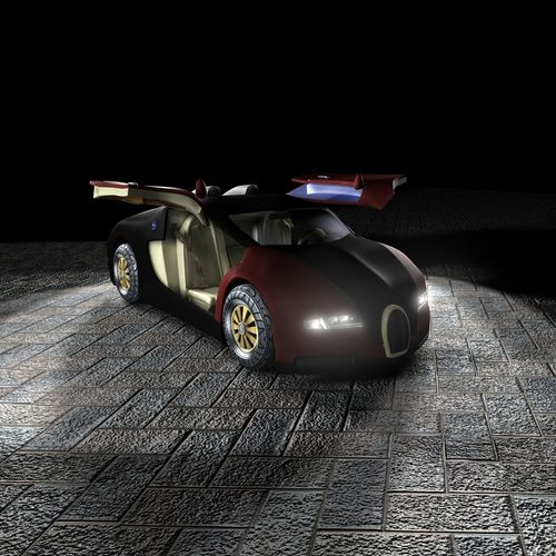 bugatti veyron 3d model with interior 3d model game ready. Black Bedroom Furniture Sets. Home Design Ideas