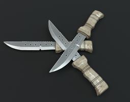 3D asset Combat knife 2