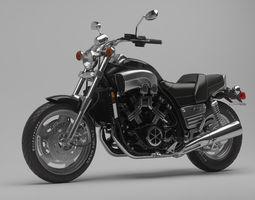 Classic Motorcycle Yamaha V-Max 1200 3D Model