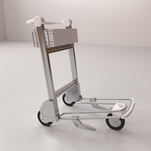 airport trolley 3d model 3ds fbx blend dae 1