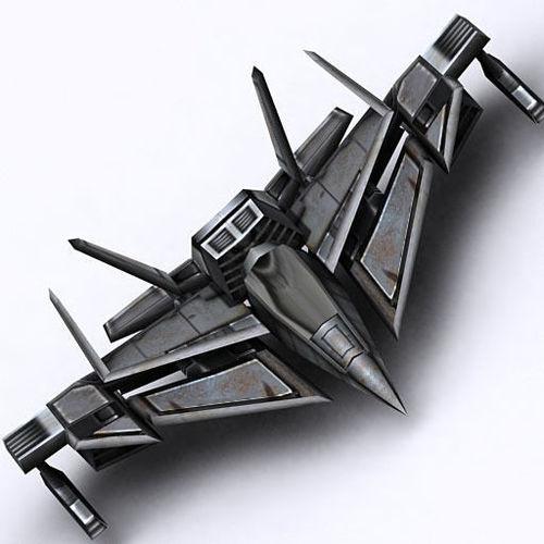 3DRT - Sci-Fi FIghter 43D model
