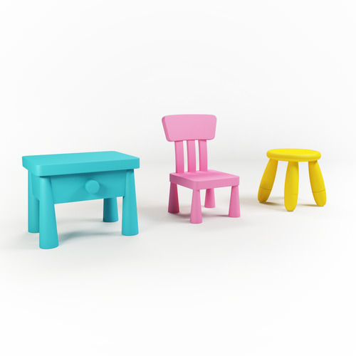Kids Chairs3D model