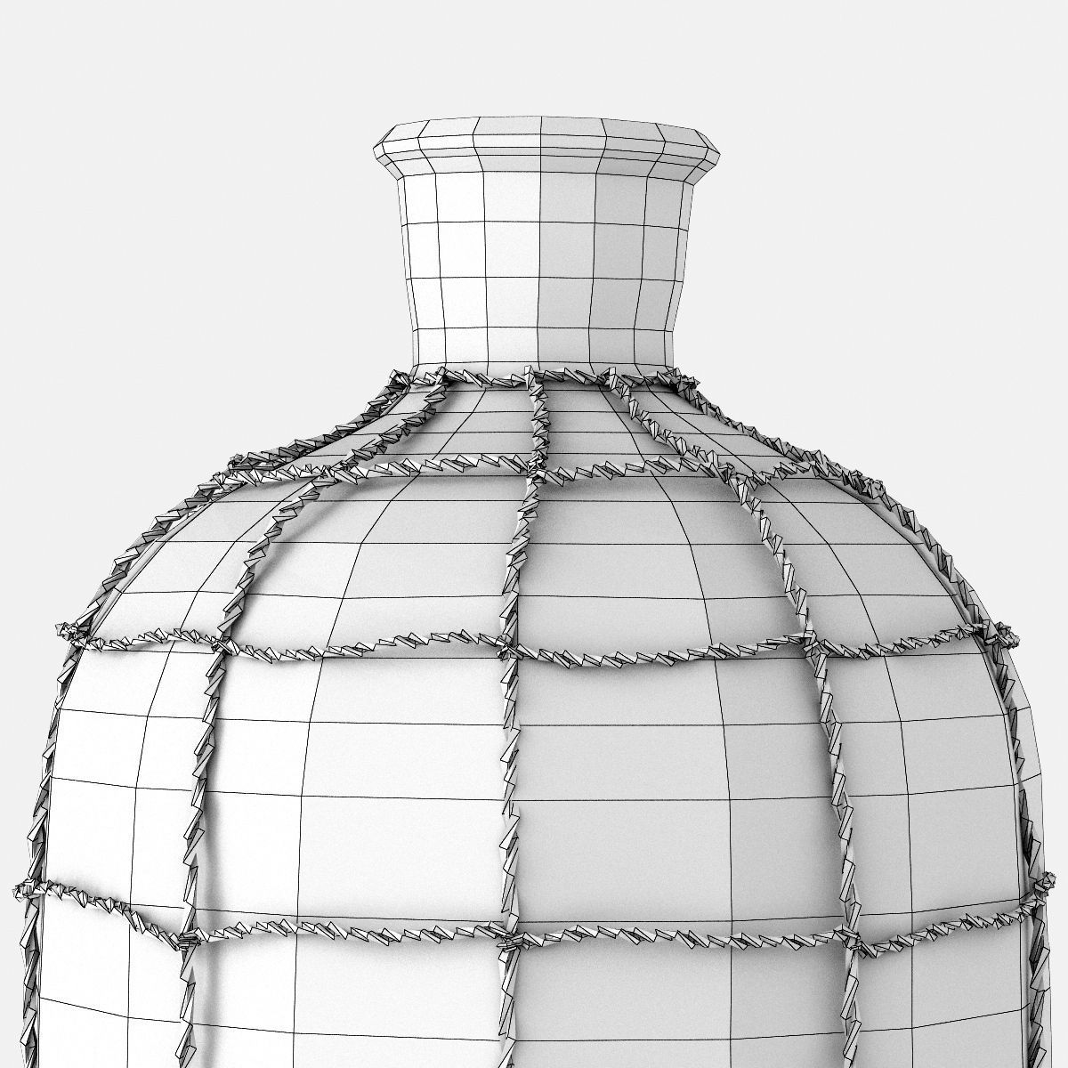 19TH C CAGED APOTHECARY BOTTLE COLLECTION 3D Model .max ...
