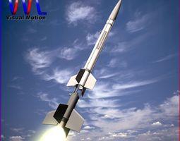 aerobee 150 rocket 3d model