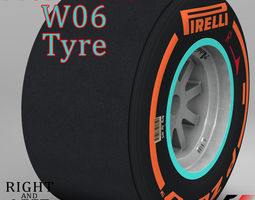 W06 Hard Rear tyre 3D Model