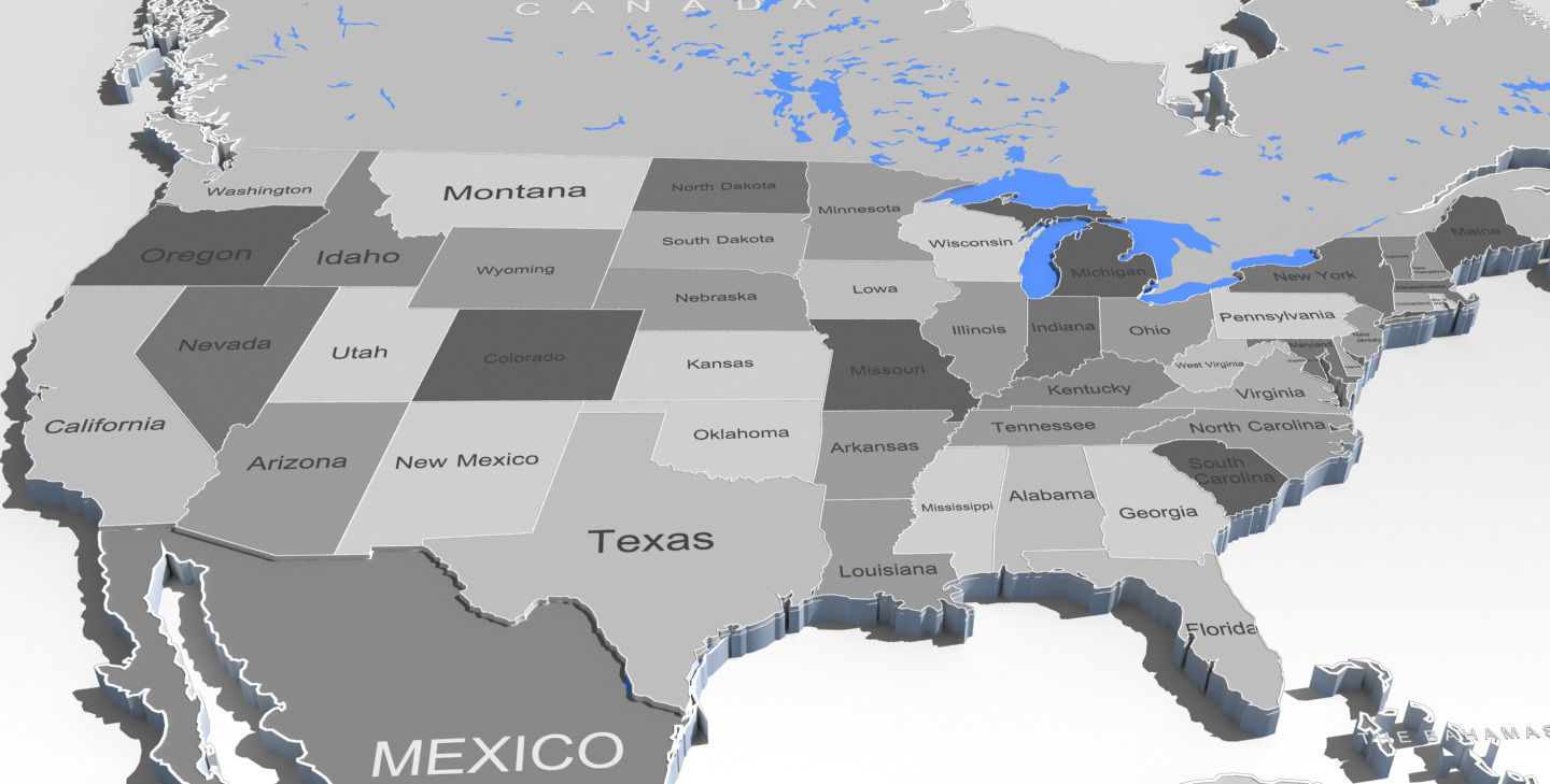 3d world map and usa map cgtrader 3d world map and usa map 3d model max obj fbx mtl 3 gumiabroncs Images