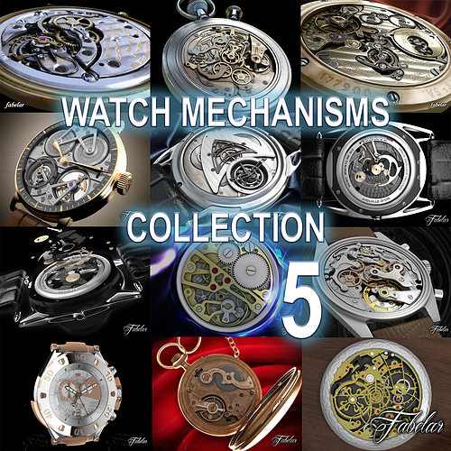 watch mechanisms coll 5 3d model animated max obj mtl 3ds fbx c4d dae 1