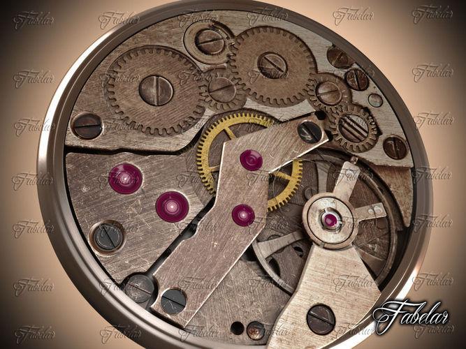Watch mechanism 123D model