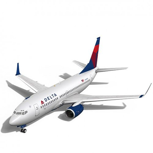 3d Delta Airlines Boeing 737