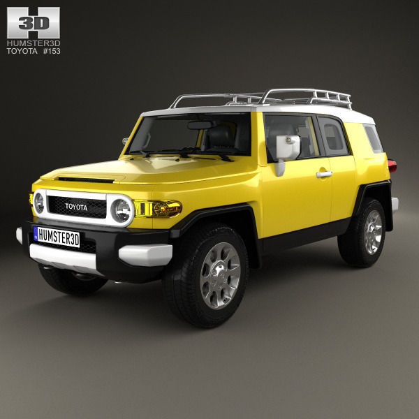 Toyota Fj Cruiser With Hq Interior Cgtrader