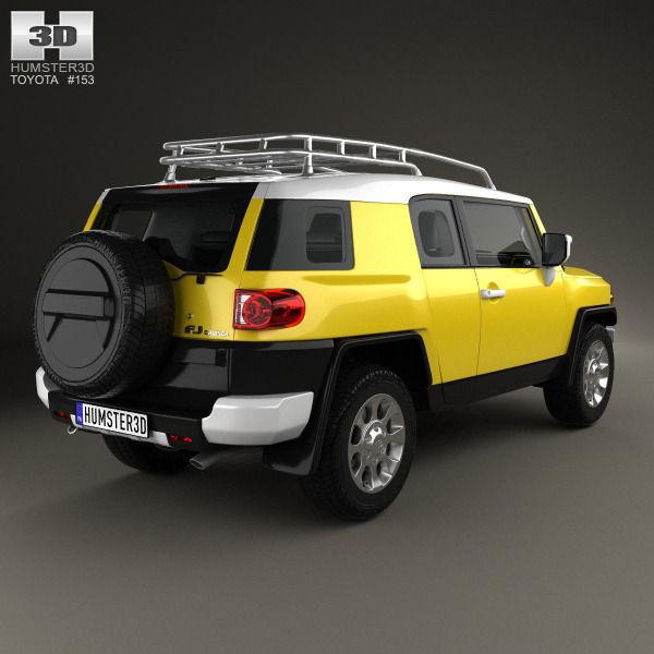 ... Toyota Fj Cruiser With Hq Interior 2010 3d Model Max Obj 3ds Fbx C4d  Lwo Lw ...