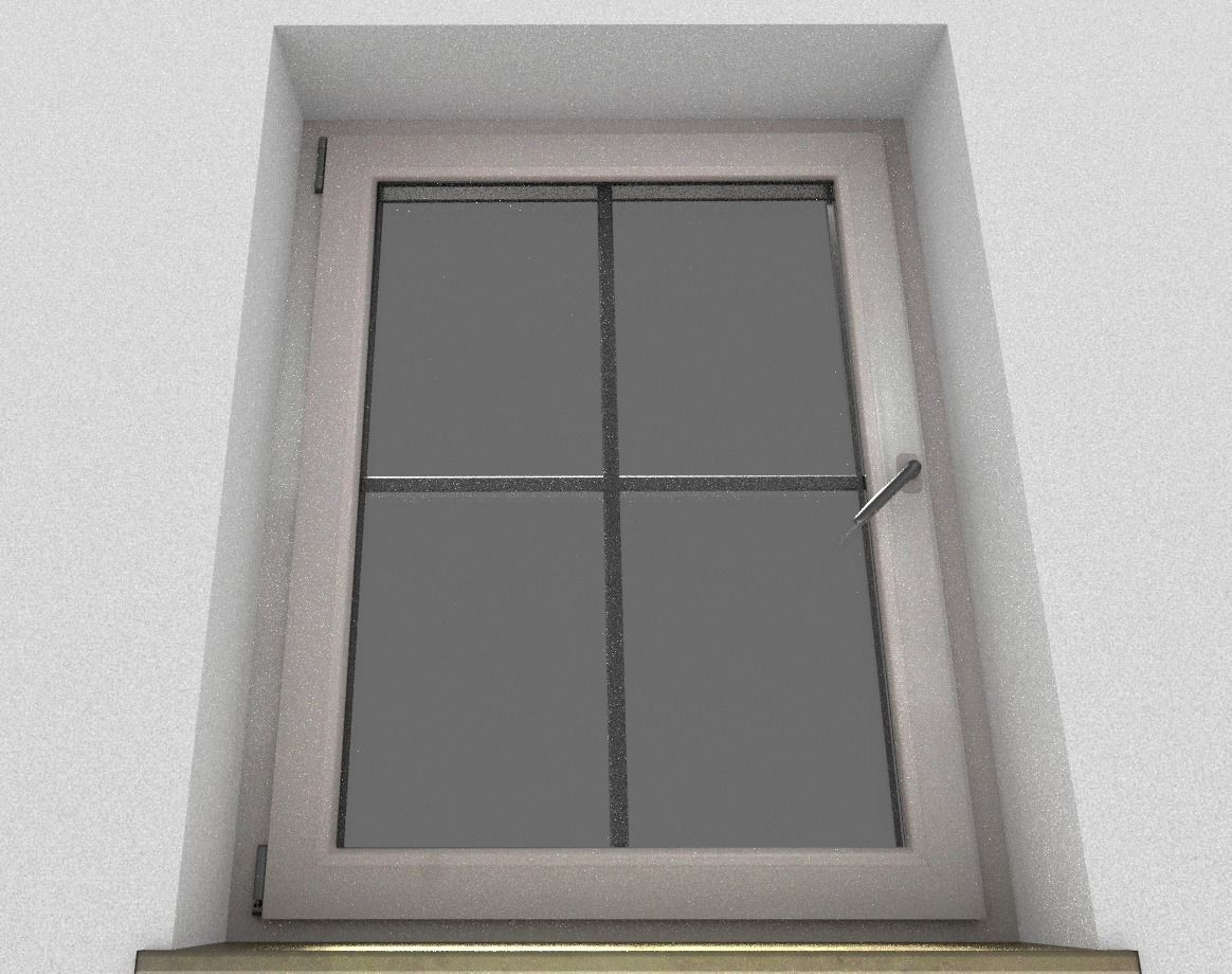 Window component rigged and animated 3d model game ready for Window 3d model