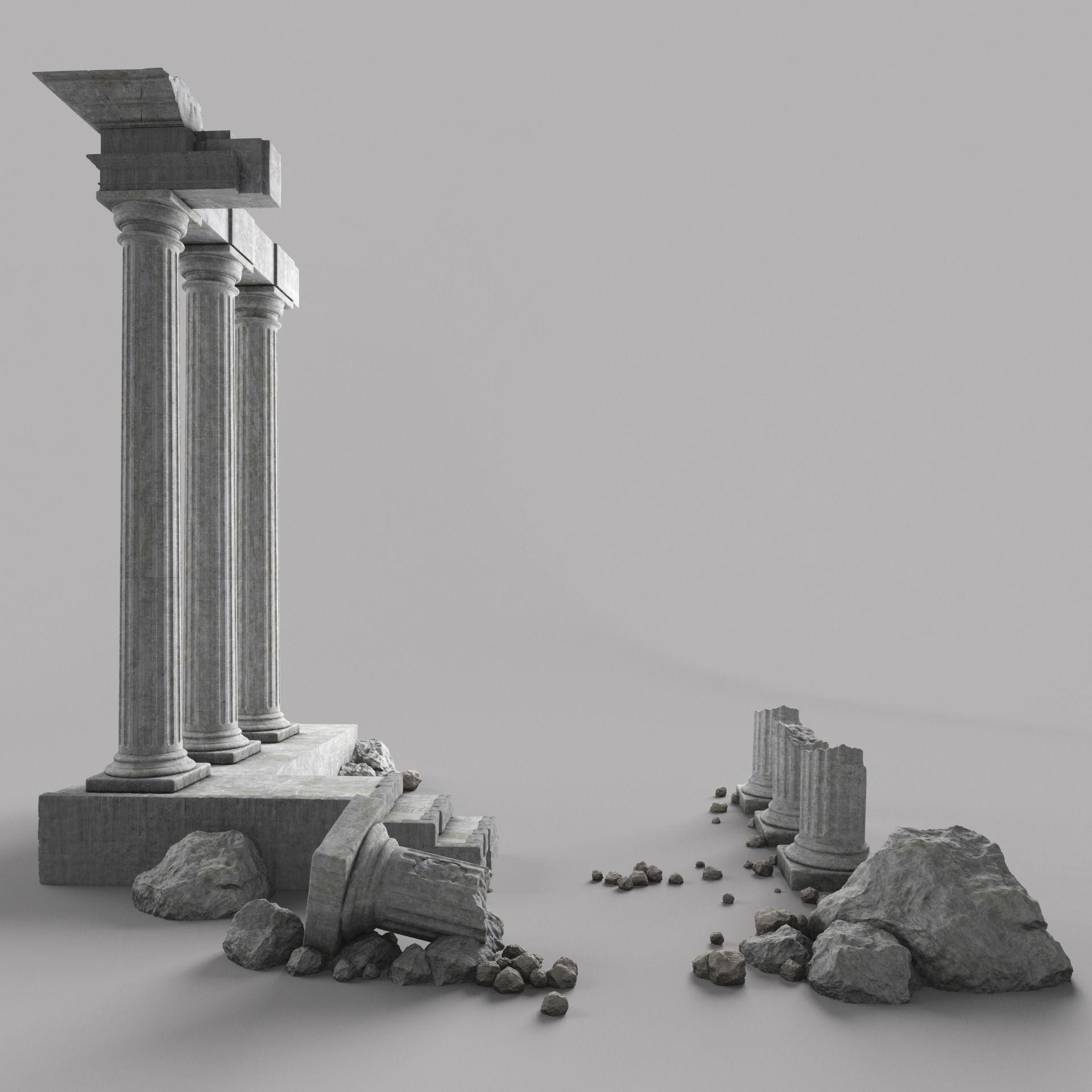 Damaged Pillars