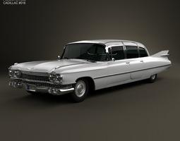 Cadillac Fleetwood 75 sedan 1959 3D