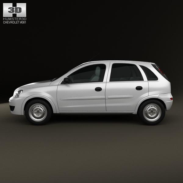 Peugeot 108 3 Door 1 0 Active Hatchback: Chevrolet Corsa 5-door Hatchback 2012 3D Model MAX OBJ 3DS