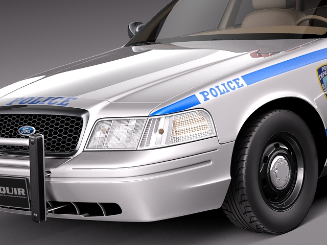 ford crown victoria police car 1998 2007 3d model obj. Black Bedroom Furniture Sets. Home Design Ideas
