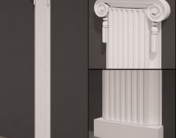 Pilaster antique type 6 3D