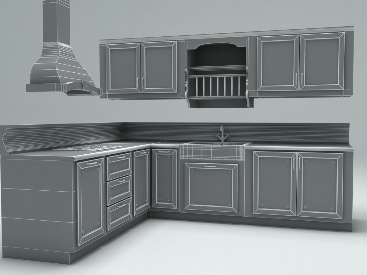 Kitchen 3d Model country kitchen 3d model max