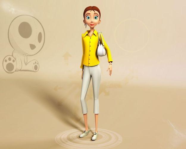 Nikkie Stylised Female Character 43D model